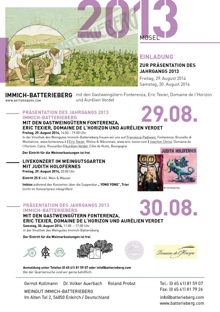 Einladung zurPräsentation des Jahrgangs 2013